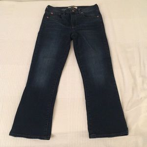 gap high rise cropped jean size 27R